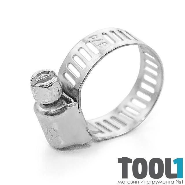 Хомут стальной оцинкованный 8 мм D 13-23 мм (упаковка 10 шт) INTERTOOL TC-0013