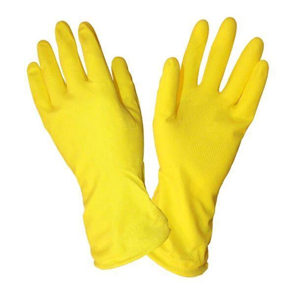 Перчатки хозяйственные резиновые (размер L)