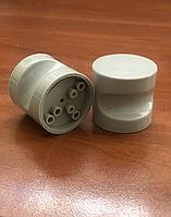 Накладная пластиковая ручка (комплект из 2 ручек) для сантехнической двери серая