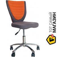 Офисное кресло со спинкой ткань Office4you Poppy серый/оранжевый темно-серый