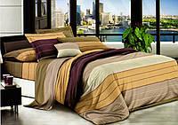 Комплект постельного белья  Полоска 3     Бязь Ранфорс GOLD семейный