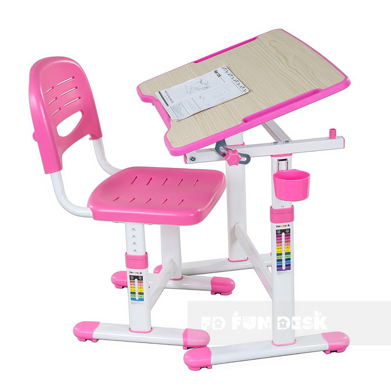 Зростаюча парта для дівчинки FunDesk Piccolino II Pink