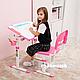 Зростаюча парта для дівчинки FunDesk Piccolino II Pink, фото 7