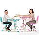 Зростаюча парта + стілець для школяра Fundesk Lavoro Pink, фото 5