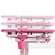 Зростаюча парта для дівчинки FunDesk Lavoro L Pink, фото 6