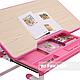 Зростаюча парта для дівчинки FunDesk Lavoro L Pink, фото 8