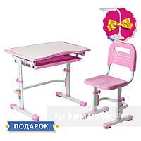 Комплект парта + стілець трансформери Vivo Pink FUNDESK