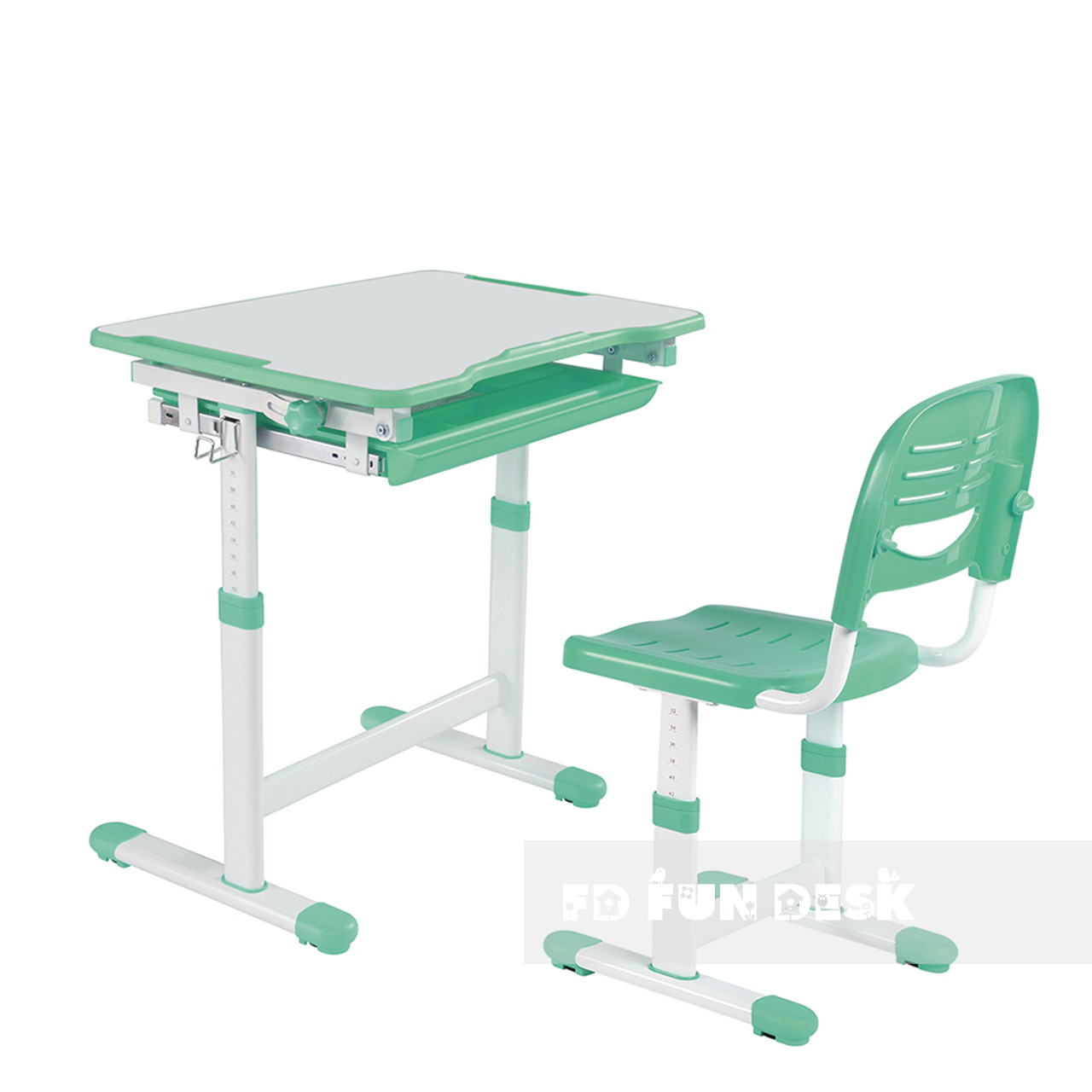 Дитяча парта зі стільцем Piccolino Green FunDesk