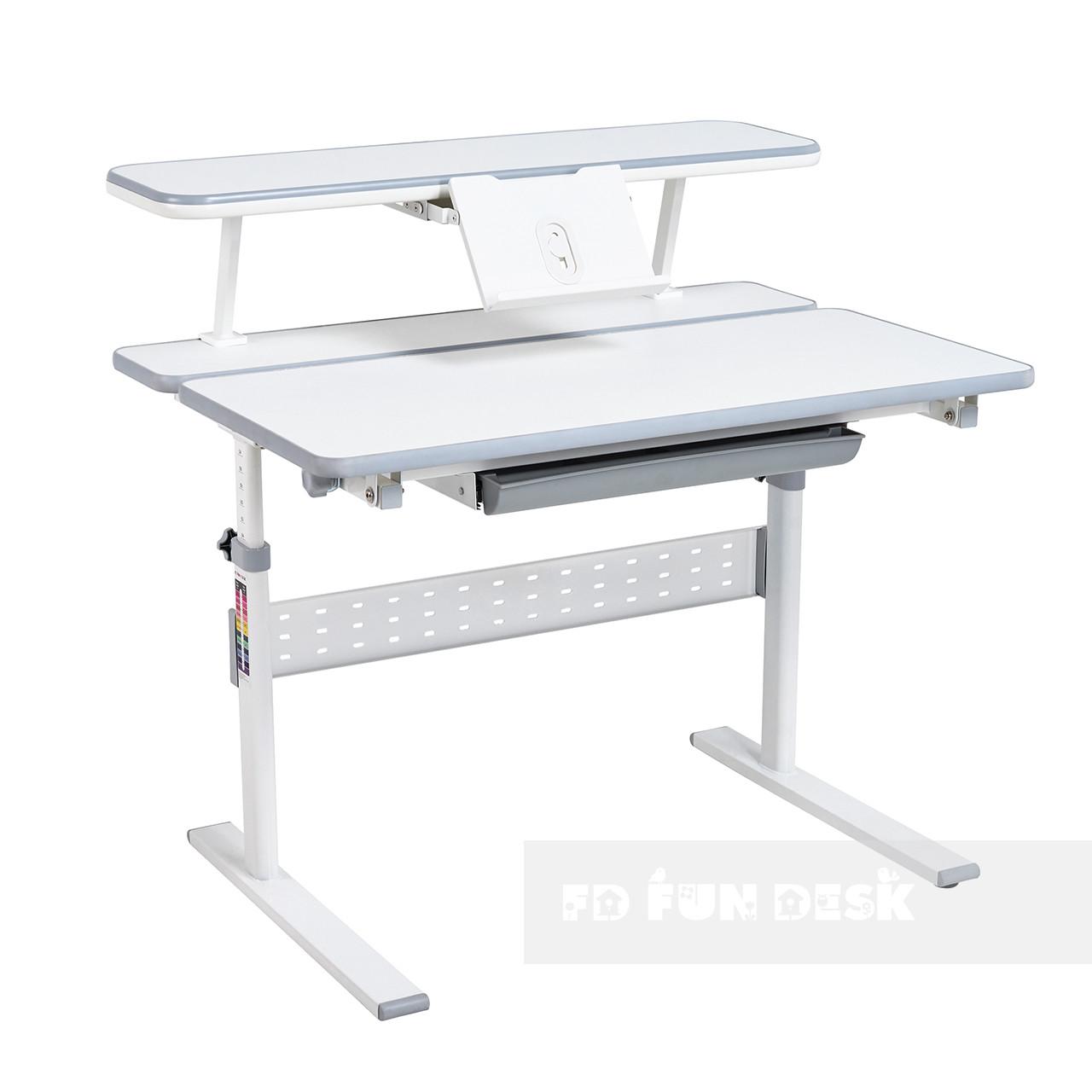 Парта-трансформер для школьника Colore Grey + полка для книг SS16 W Grey FunDesk
