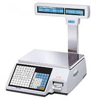 Весы с печатью этикетки CAS CL5000J-IP/R б/у