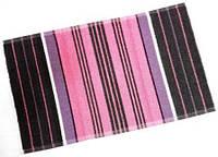 Полотенце для рук махровое Серый с розовым 70*40