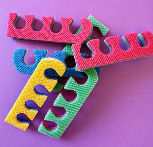 Растопырки ( розпірки) для педикюру, роздільники для пальців ніг при педикюрі двоколірні ( 8мм і 10мм ).