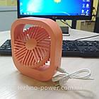 Настольный мини вентилятор портативный DianDi Square. Вентилятор аккумуляторный 2 скорости, фото 8