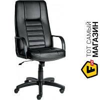 Офисное кресло руководителя с высокой спинкой кожа эко Примтекс плюс Зодиак D-5 черный