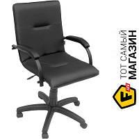 Офисное кресло со спинкой искусственная кожа Примтекс плюс Samba black GTP CZ-3 черный