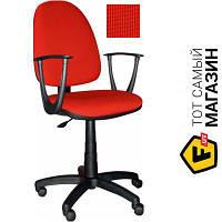 Офисное кресло со спинкой ткань Примтекс плюс Jupiter GTP sonata C-16 красный