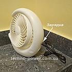 Вентилятор портативный DianDi Circle настольный. Вентилятор аккумуляторный 2 скорости, фото 7
