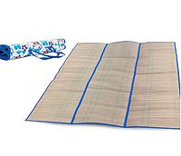 Пляжный коврик из соломки и фольги