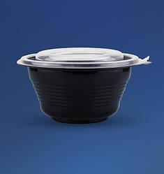 Одноразовая супница с крышкой для СВЧ 500 мл