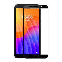Защитное стекло LUX для Huawei Y5p Full Сover черный 0,3 мм в упаковке