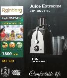 Соковыжималка Rainberg RB-631 электрическая 1800 Вт, фото 2