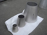 Переход концентрический  нержавеющая сталь 88,9х2/33,7х2, фото 3