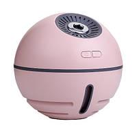 Увлажнитель воздуха для комнаты, рабочего места или машины с подсветкой и вентилятором (УВ-102) Розовый