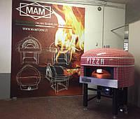 Печь на дровах и/или на газе для пиццы М.А.М со статичным подом,