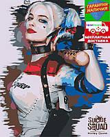 Картина по номерам Харли Квинн  (цветной холст) 40*50см Раскраска по цифрам