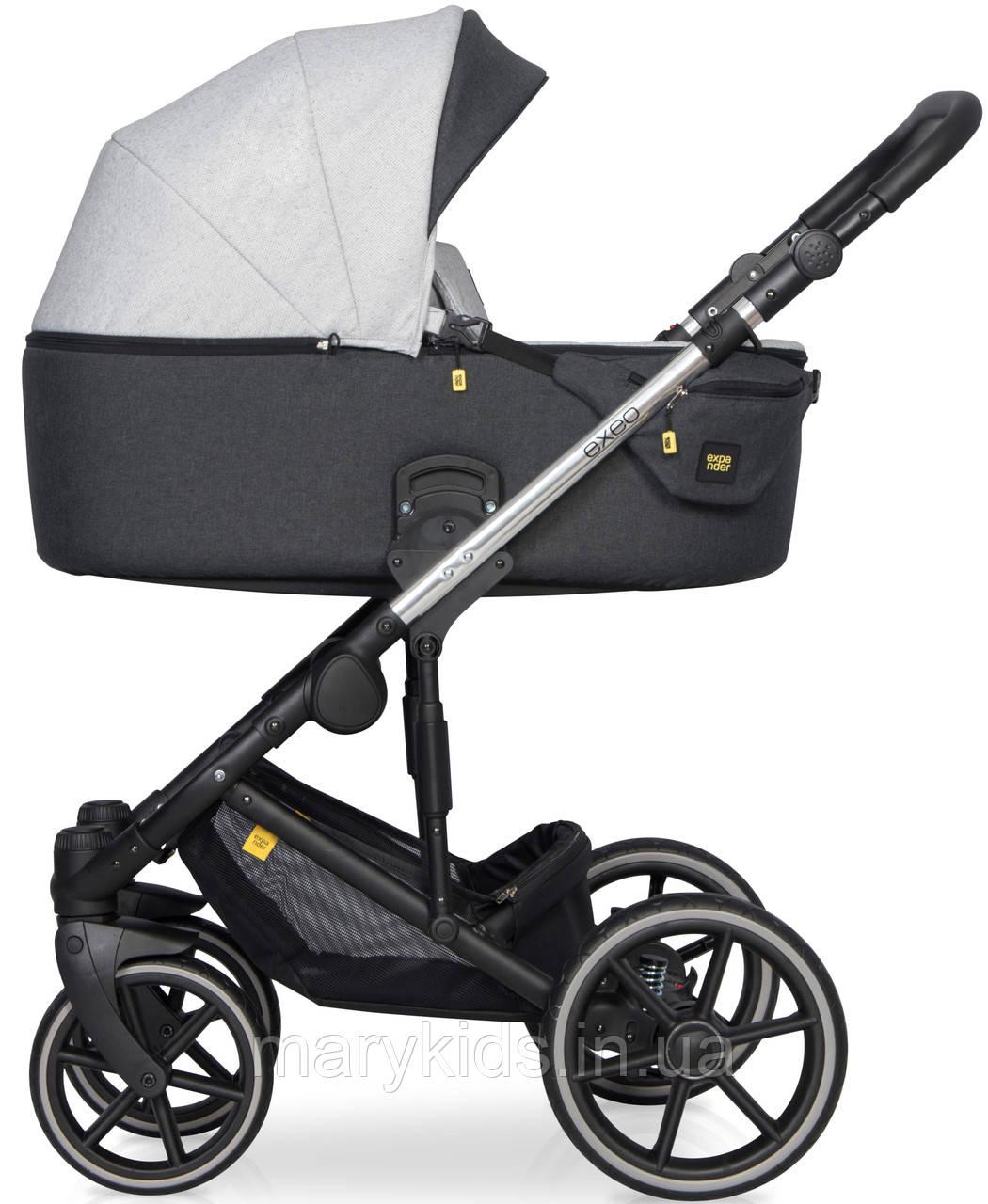 Дитяча універсальна коляска 3 в 1 Riko Exeo 01 Silver