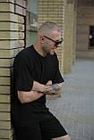 Комплект мужской черный футболка шорты, фото 3