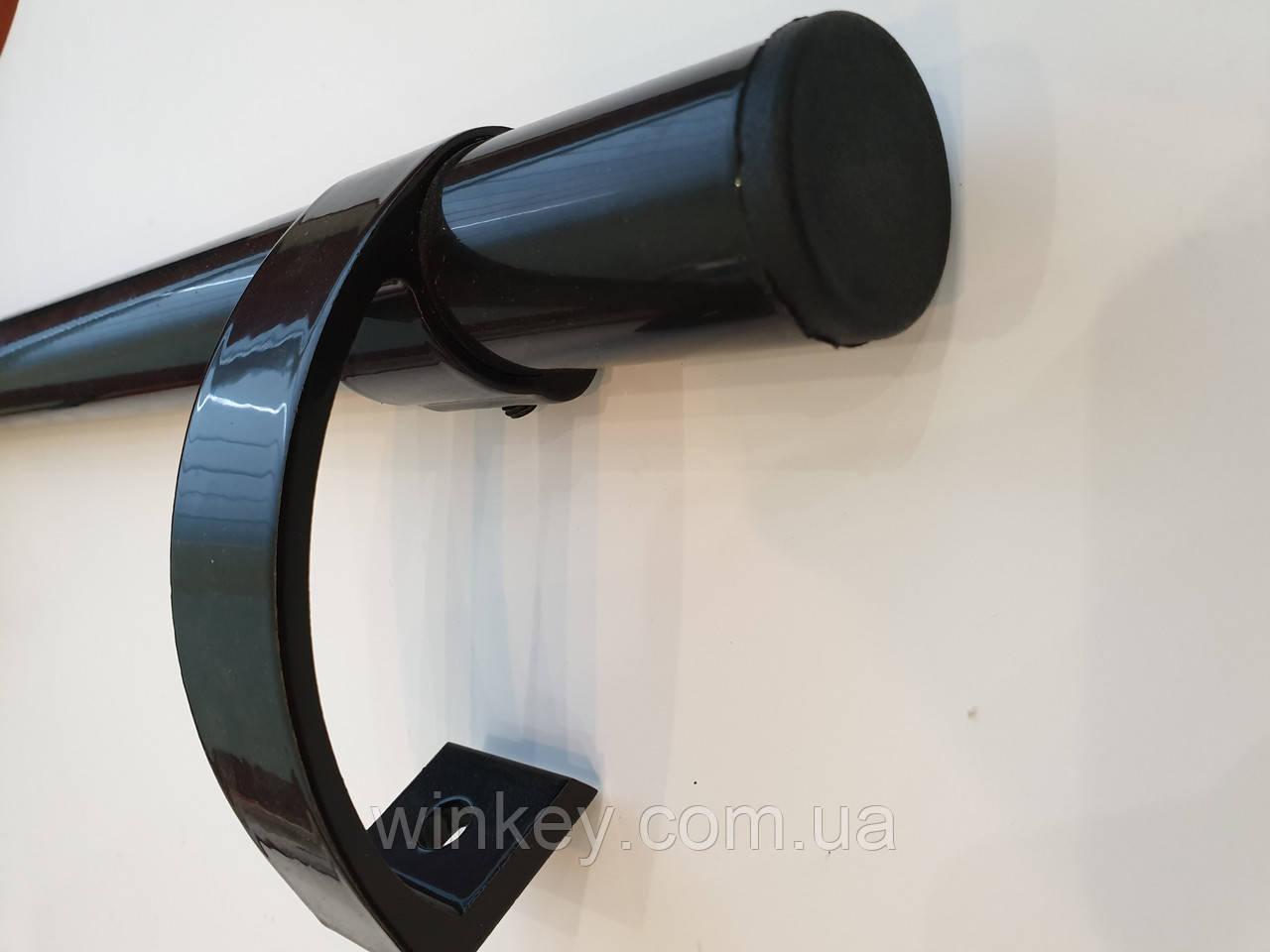 Ручка дверная офисная прямая 500 мм антрацит