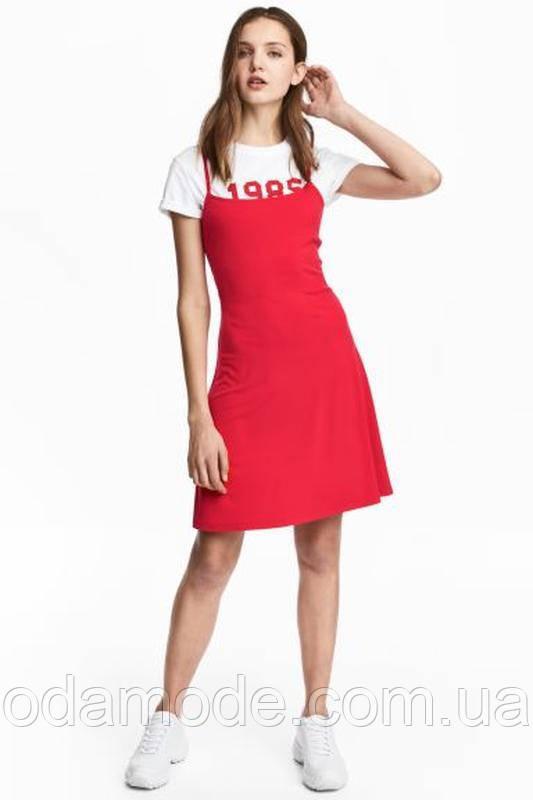 Жіноче плаття-сарафан h&m червоне