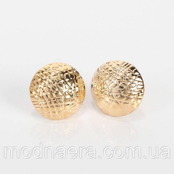 Золотые сережки пуговицы ткань двухсторонняя пайетки купить