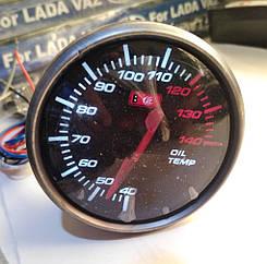 Указатель температуры масла стрелочный Ket Gauge D 602703 черный в корпусе WH/RED Ø60мм прибор датчик