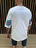 Мужская футболка оверсайз белая с ярким принтом, фото 3