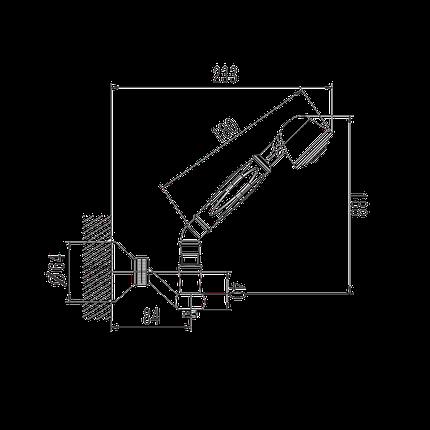 Душовий набір,хром 1304127HS Retro, фото 2