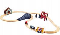 Дерев'яна залізниця Elefun 34 елементи