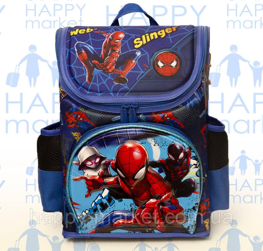 Ранец Рюкзак каркасный школьный ортопедический раскладной Человек паук  202-2