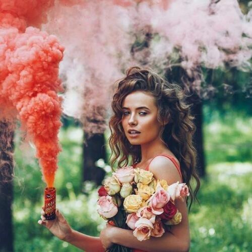 Оригинал! Jorge Красный дым для фотосессии, Цветной дым, кольоровий дим, червоний дим (Высокая насыщенность)