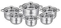 Набор посуды кухонной, набор кастрюль из нержавеющей стали Edenberg EB-4014