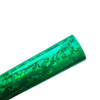 Кожзам экокожа Глянцевая Зеленая голограмма искусственная кожа ткань 20x30 см 1 шт