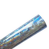 Кожзам экокожа Глянцевая Серебряная голограмма искусственная кожа ткань 20x30 см 1 шт