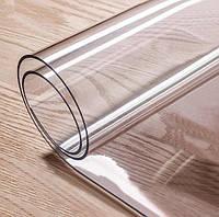 Мягкое стекло Силиконовая скатерть на стол Soft Glass Защита для мебели 1.0х1.1 м (Толщина 1.5мм)