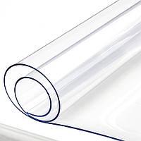 Силіконове м'яке скло Прозора захисна скатертини для столу і меблів Soft Glass (1.1х1.0м) товщина 1.5 мм