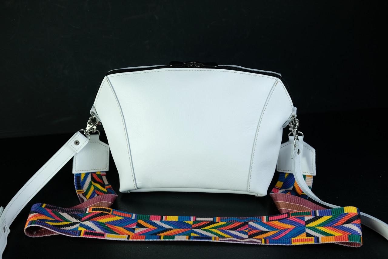 Сумка женская. Кожаная сумочка Майя, Гладкая кожа, цвет Белый