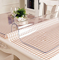 Силиконовое мягкое стекло Прозрачная защитная скатерть для стола и мебели Soft Glass (1.0х1.3м) толщина 1.5мм