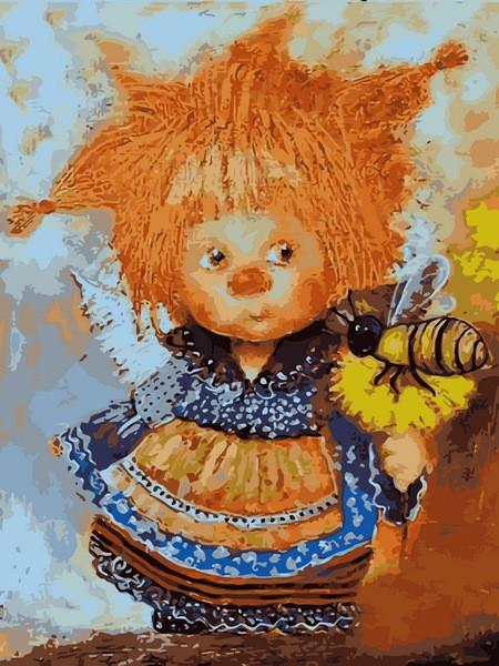 Картина по номерам Babylon VK234 Солнечный ангел с пчелой 30х40см бебилон картины Мультфильмы, сказки