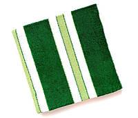 Полотенце банное махровое Зеленый с белой полоской 140*70