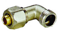 Уголок металопластиковый диаметр 20 х 3/4 внешняя резьба